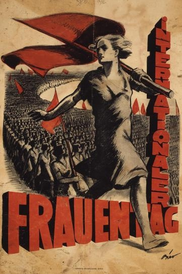 Plakat zum Internationalen Frauentag 1932